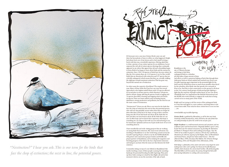 Extinct Boids by Ralph Steadman and Ceri Levy