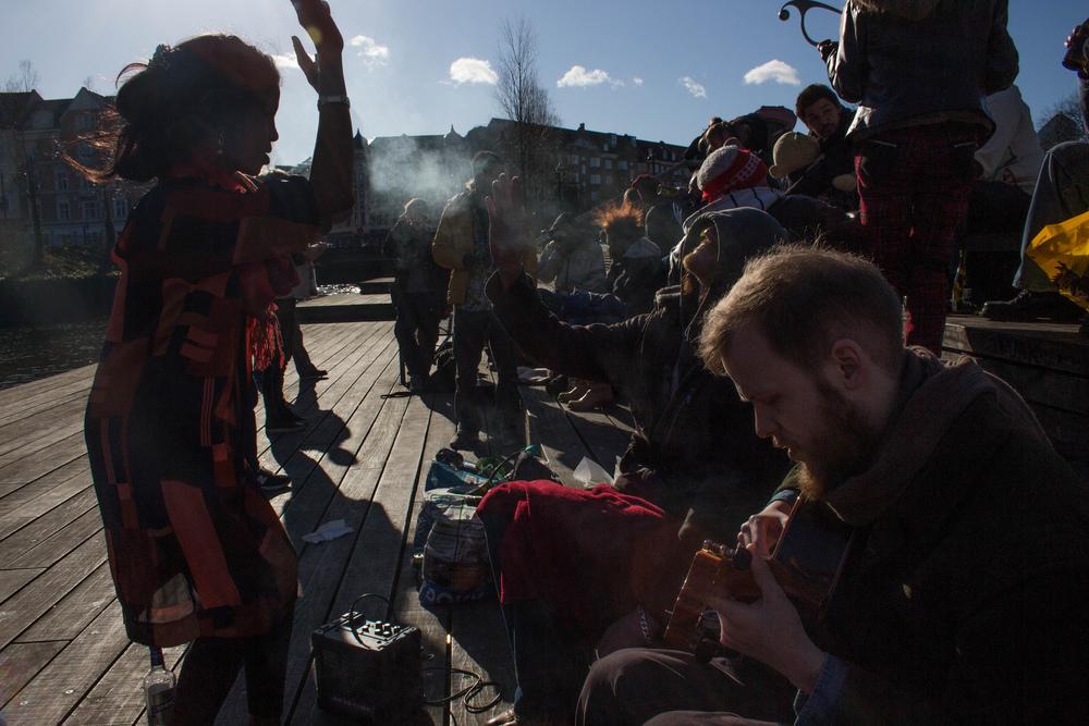 Mølleparken i Århus er et samlingssted for mange. Foto: Harald Togram