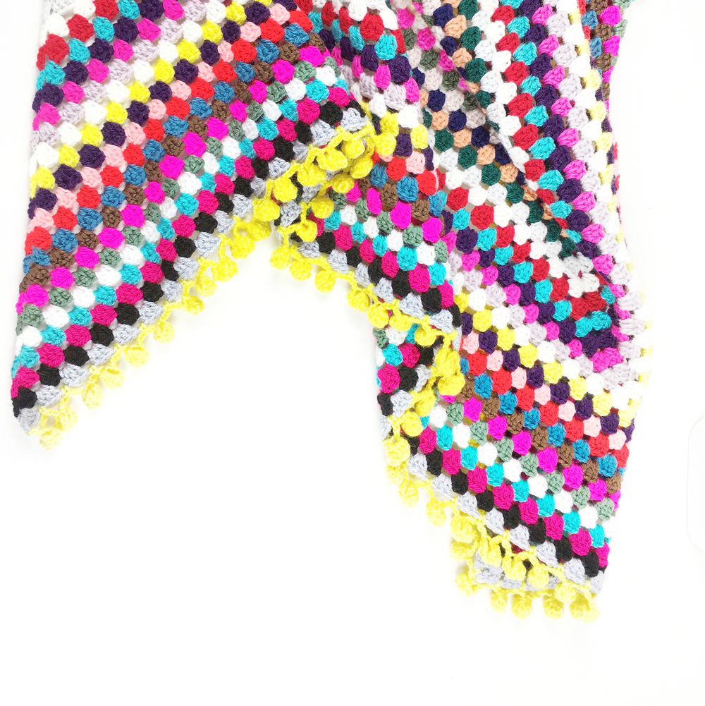 Make An Easy Granny Scarf With Pom Pom Edging Too Potter Bloom