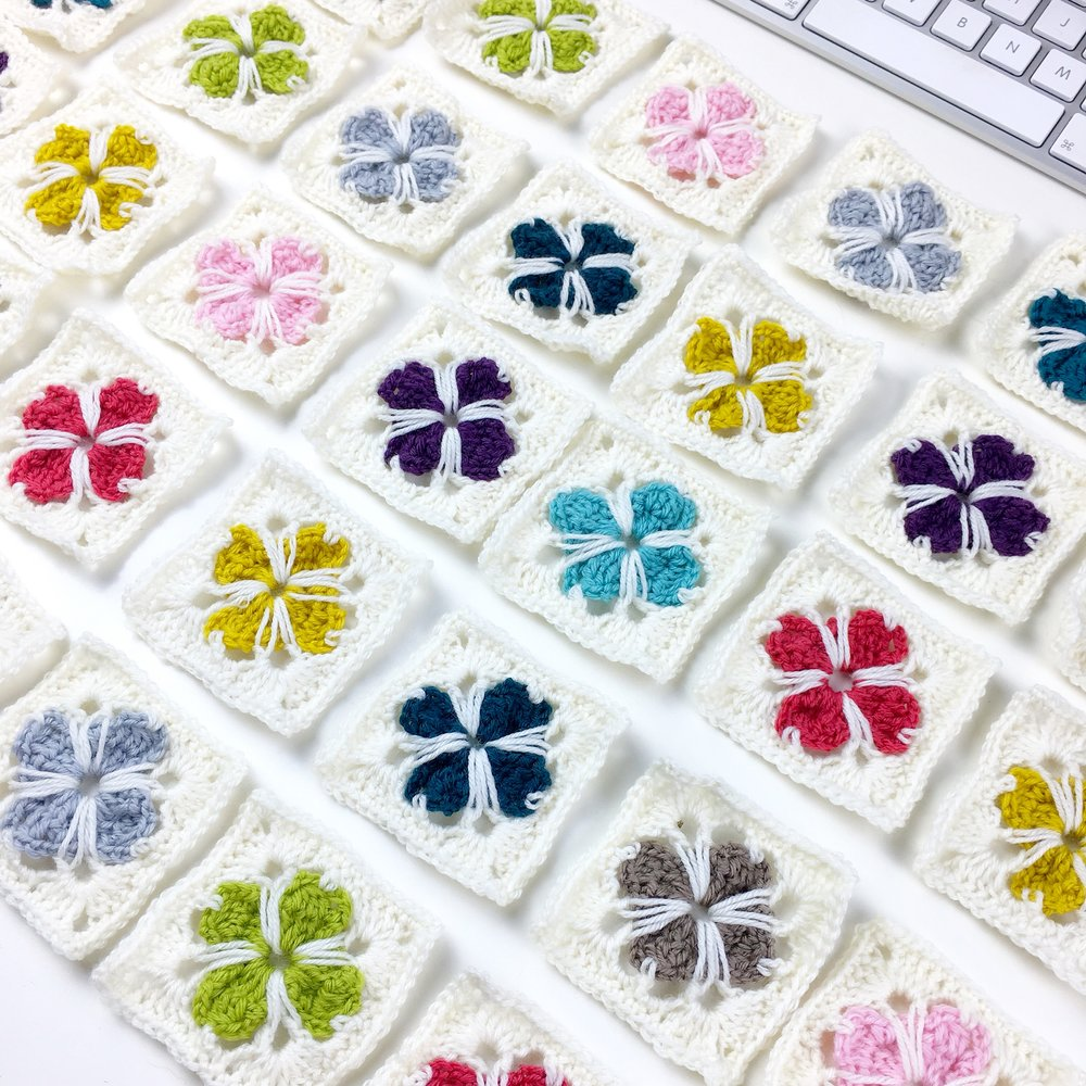 How To Crochet Cathedral Squares Potter Bloom