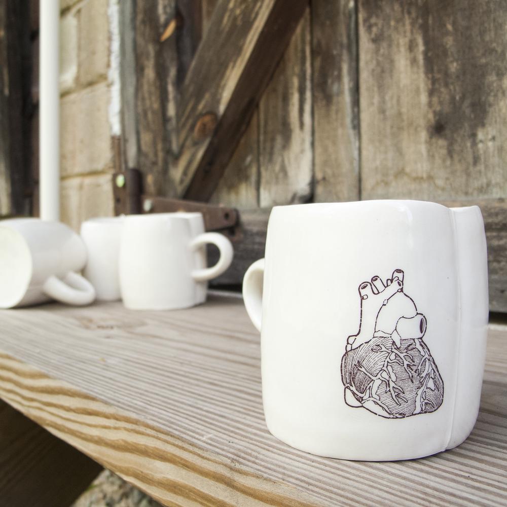 Mug with Heart (4 x 5 x 3.5)
