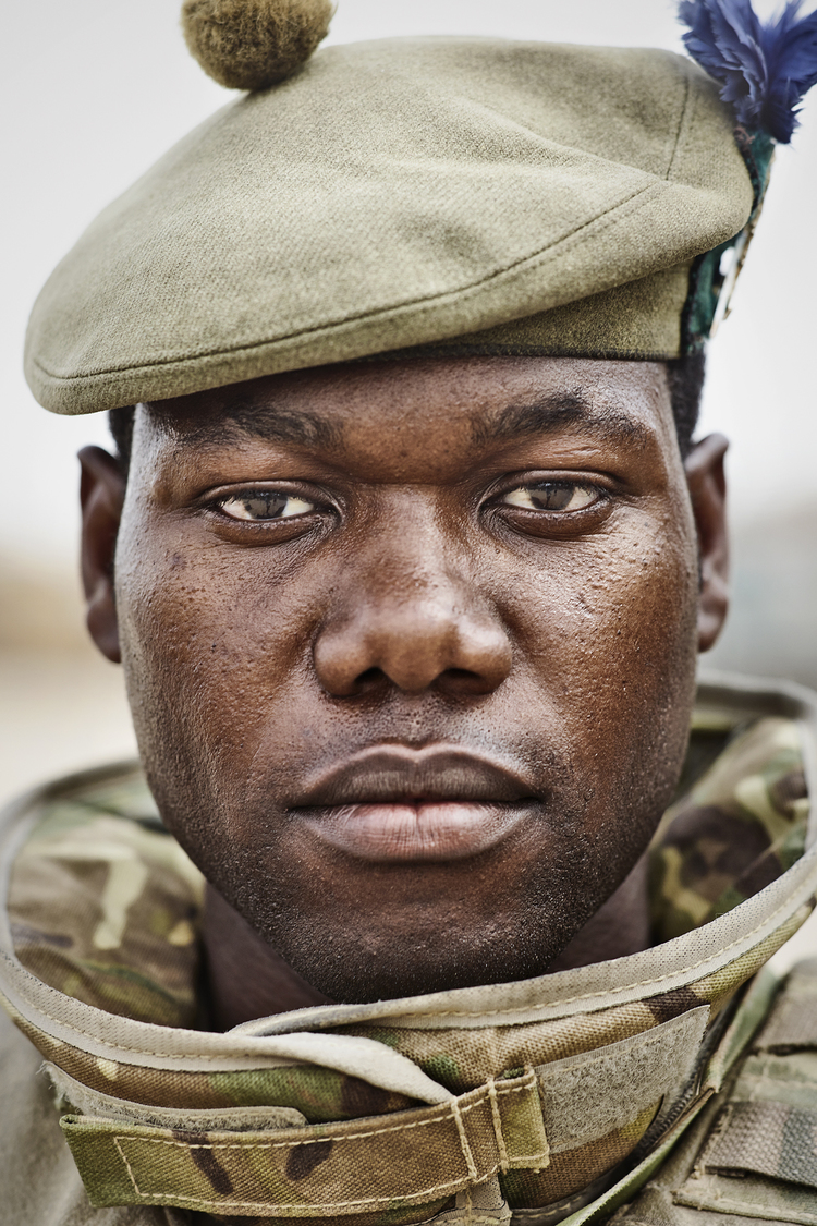 6 SHEET POSTER IN BRISTOL Portrait taken at Camp Bastion in April 2014 just before going on patrol.