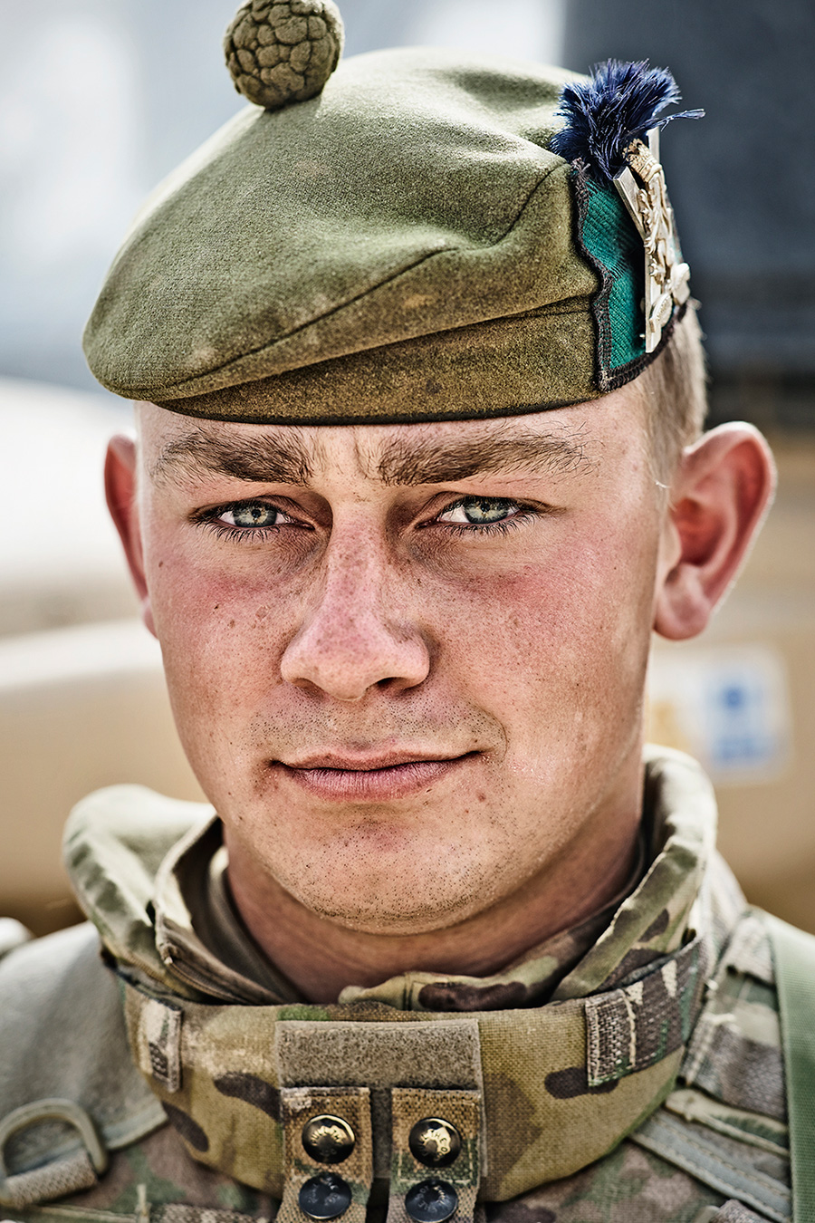 6 SHEET POSTER IN BROMLEY   This portrait was taken at Camp Bastion in April 2014.