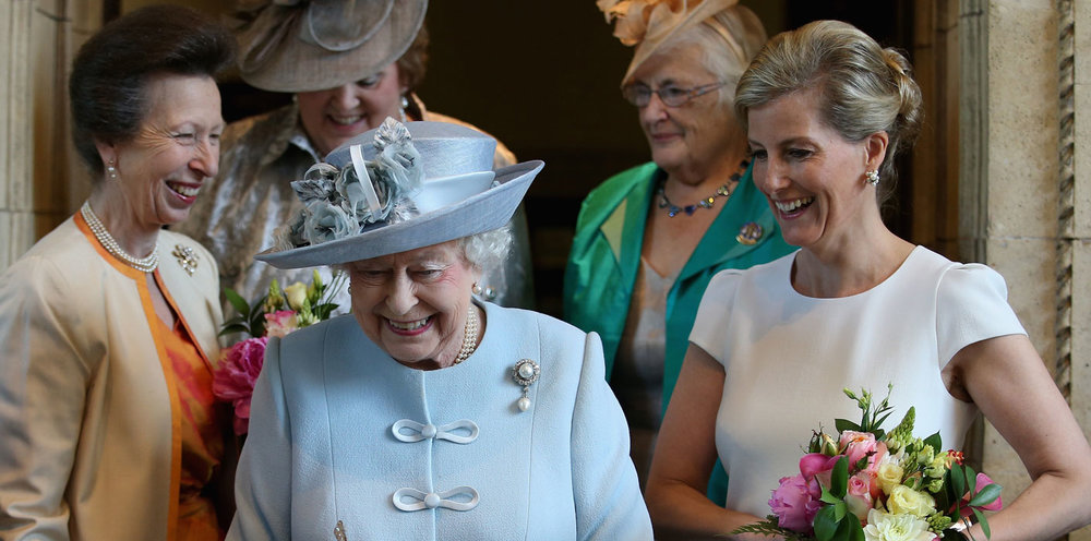 The Queen, Princess Anne and The countess of WEssex celebrating 100 years of the wi