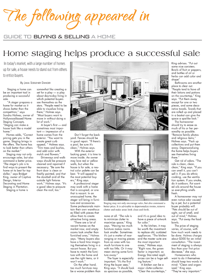 Home staging produces a successful sale