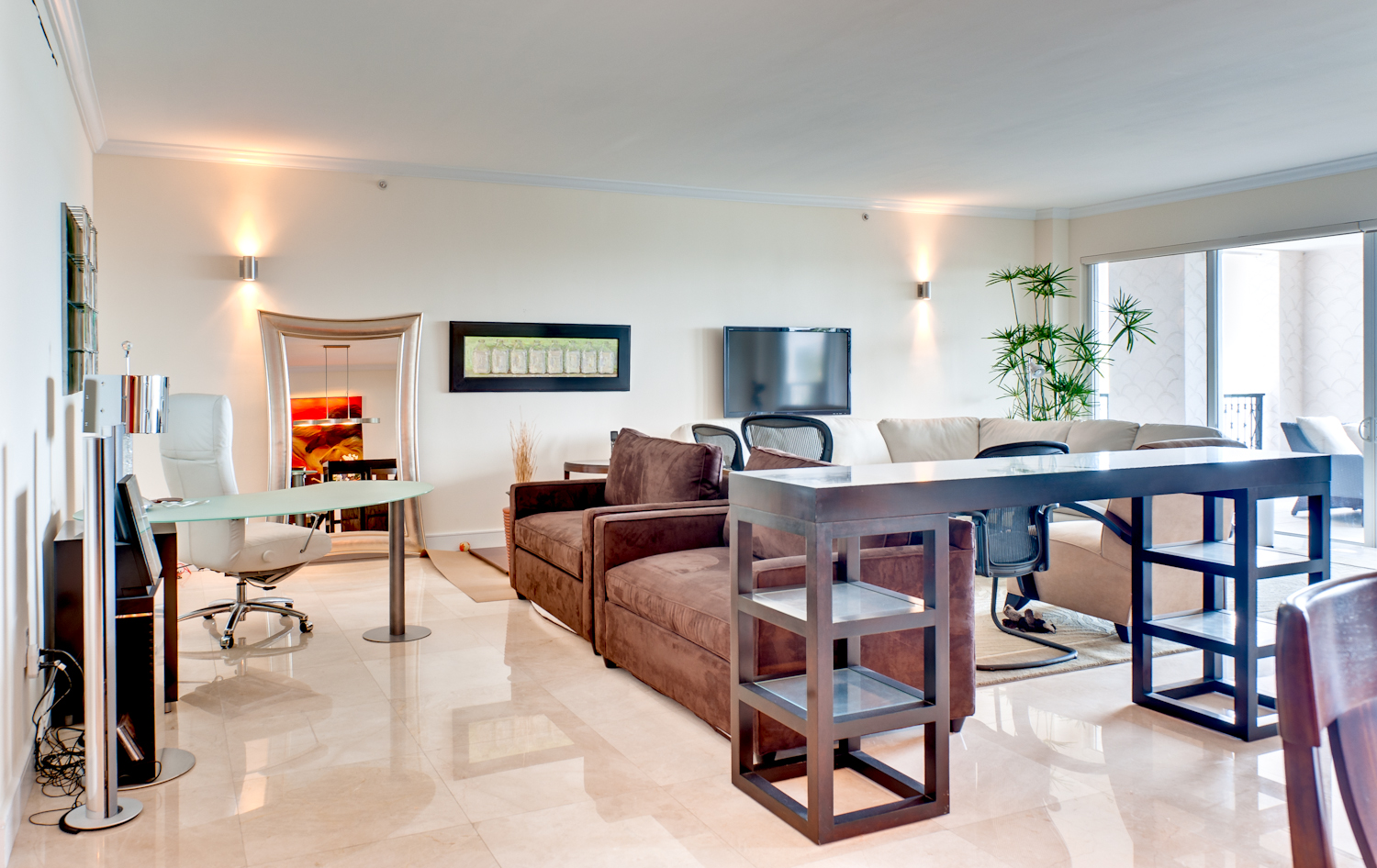 Fisher Island Family Room | BEFORE