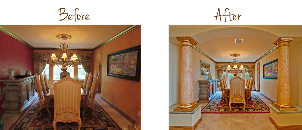 Dining Room Makeover Florida Home Design Services Before