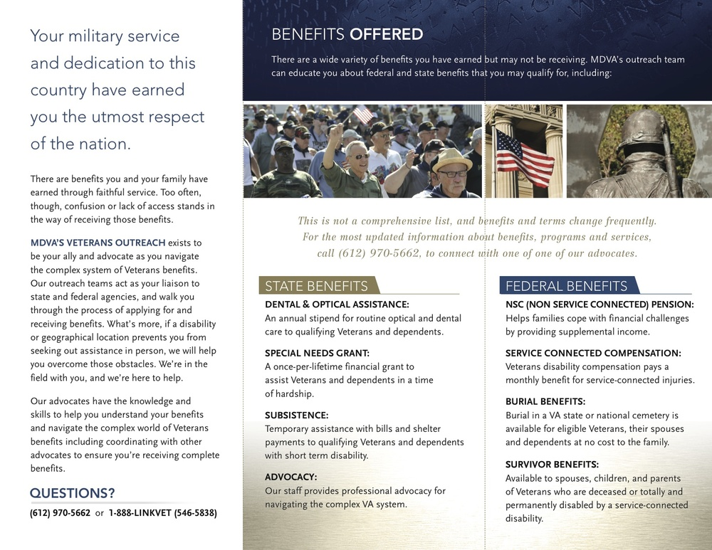 MDVA: Series of Benefits Brochures