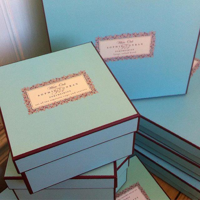 Snygg presentförpackning till 2 espressokoppar med fat! #Sophie Conrandesign
