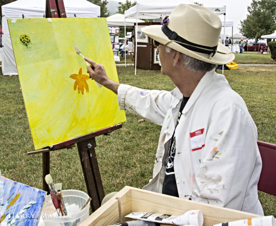 "Tony Zeigler -- Artist doing LIVE art at ""Art in the Park"""