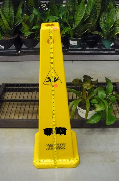 3 feet of warning.