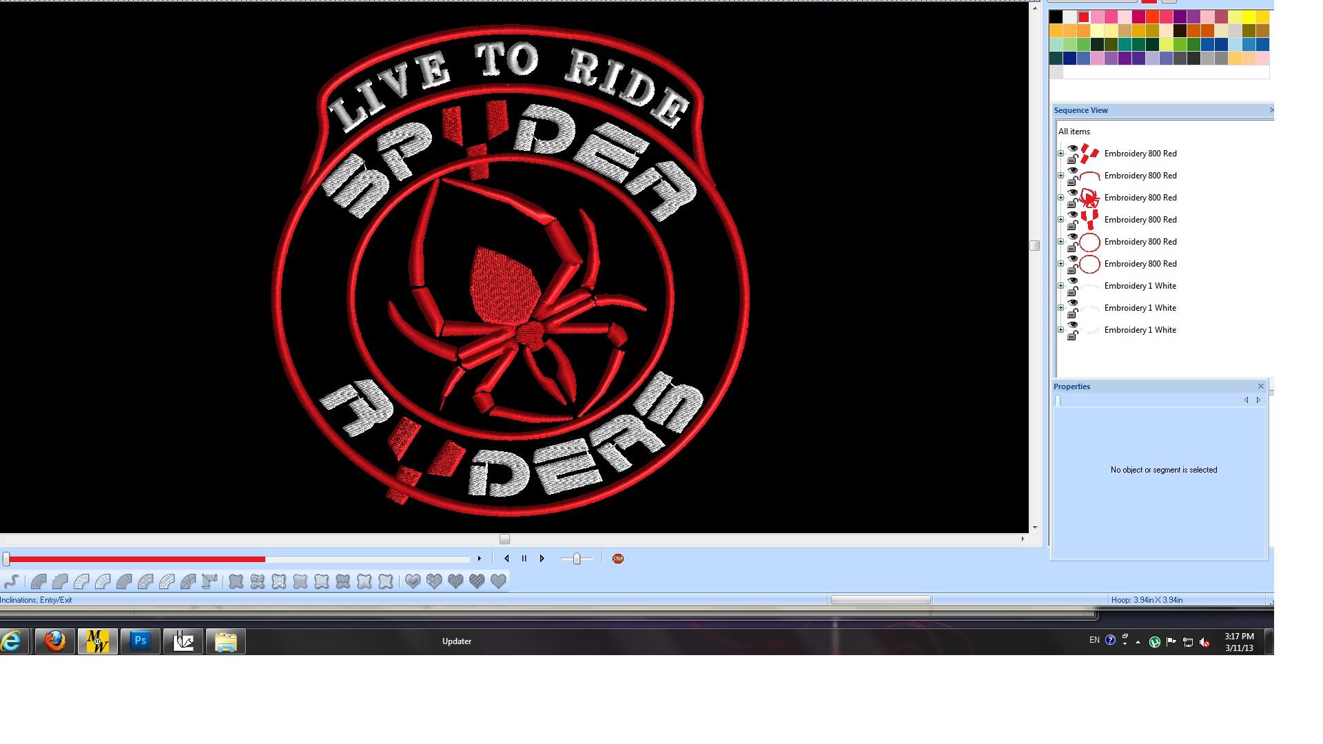 SPYDER RIDER CREST 10IN LIVE TO RIDE