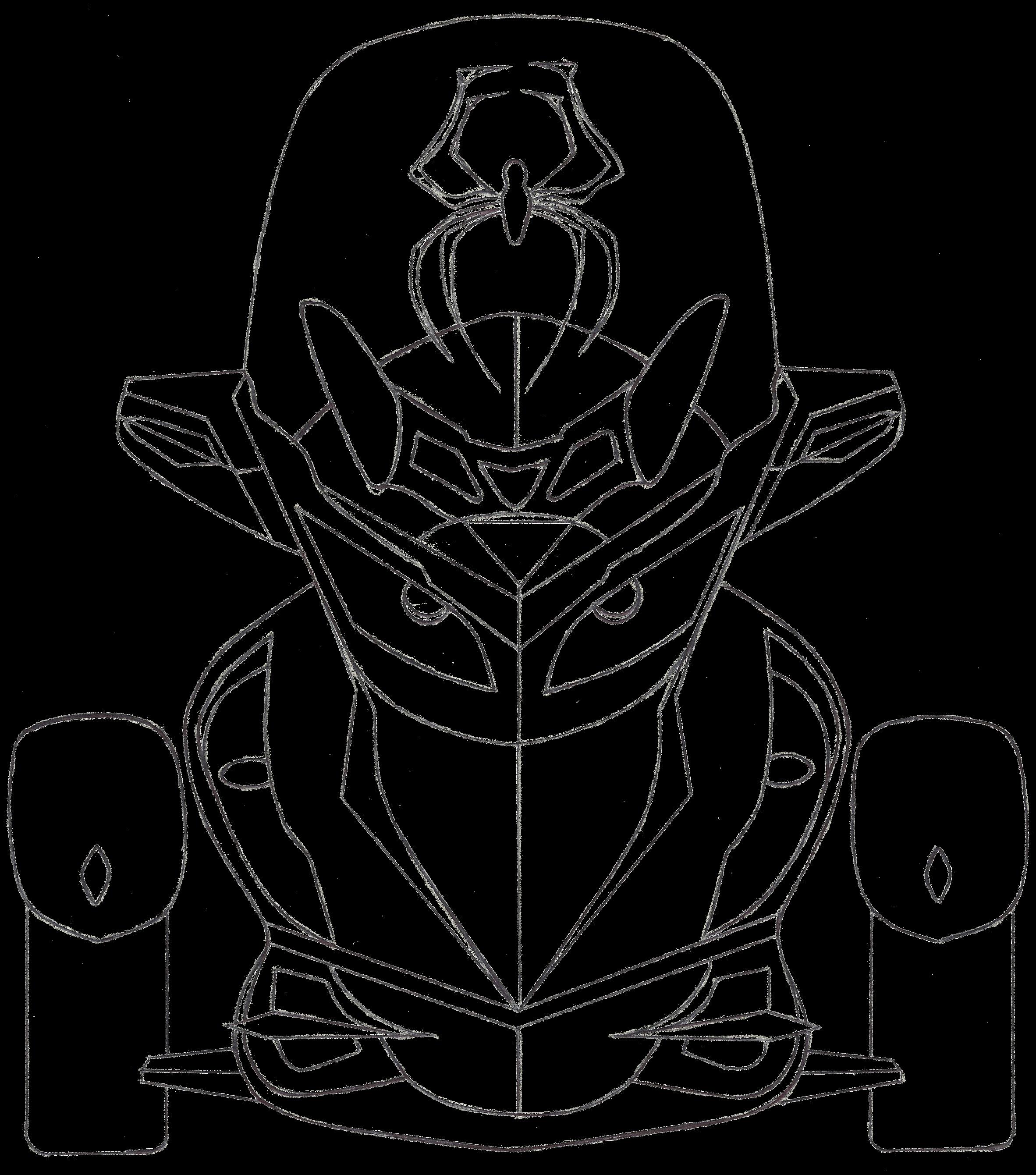 Spyder Sketch By William Geiger