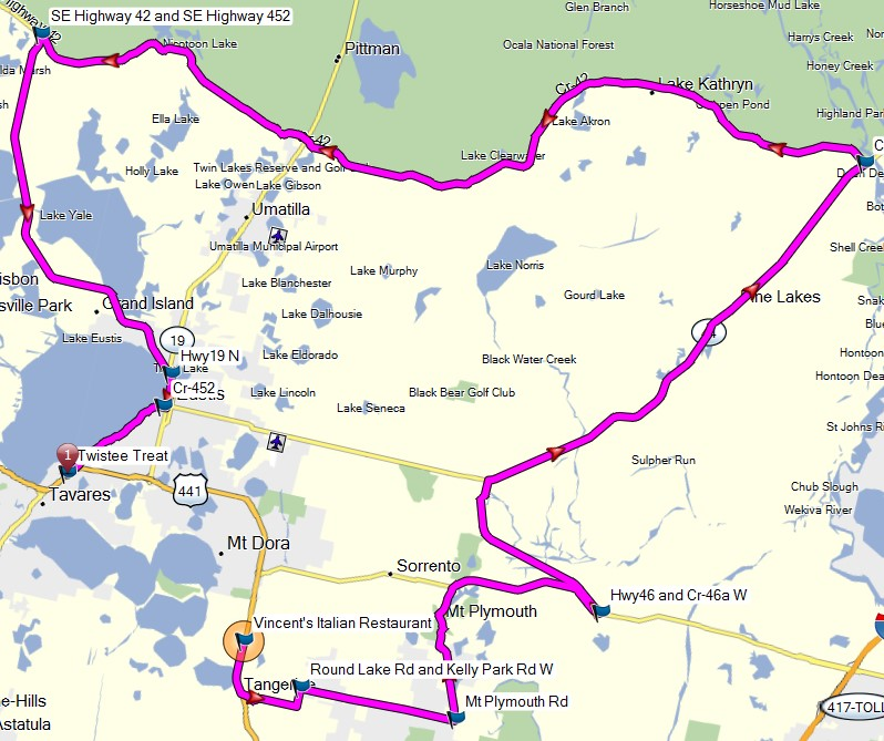ryde route