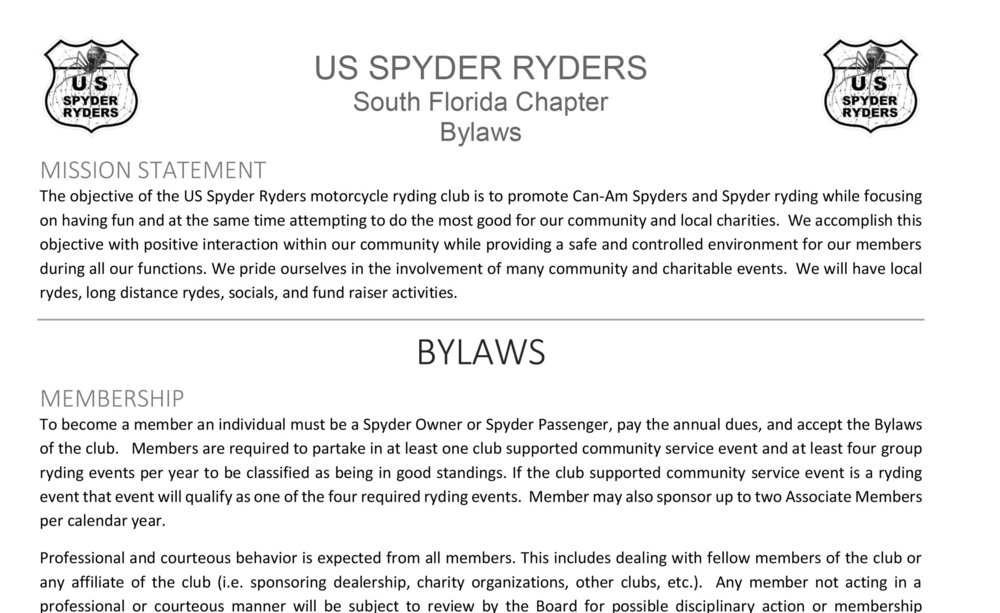 South Florida Chapter Bylaws