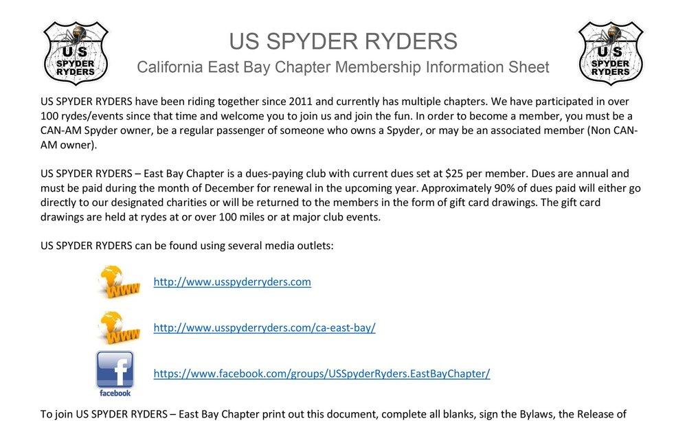 Membership Information Sheet