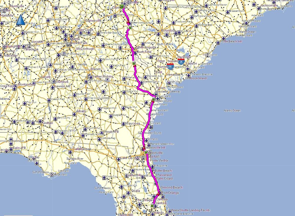 Click on Map to download GPX file for the trip.