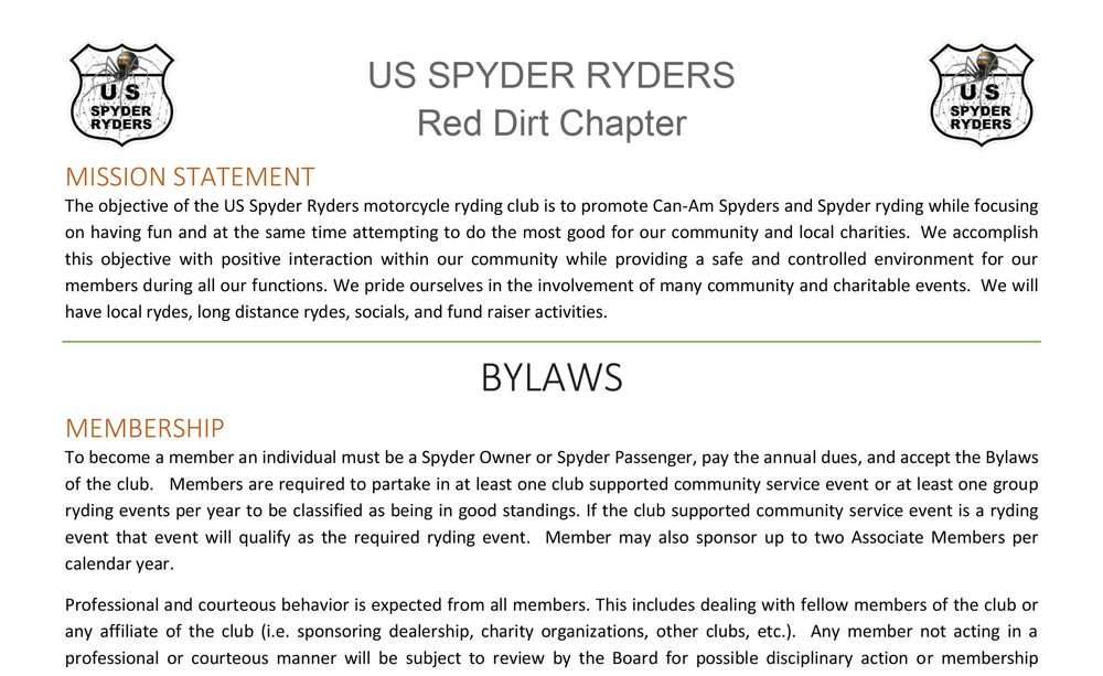 Red Dirt Chapter ByLaws