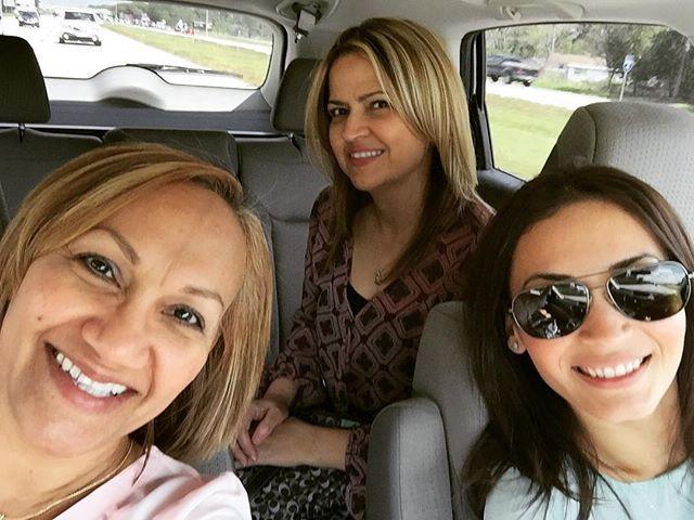 Jenny, Marisabel y Jannira de camino a Orlando IDPMI.