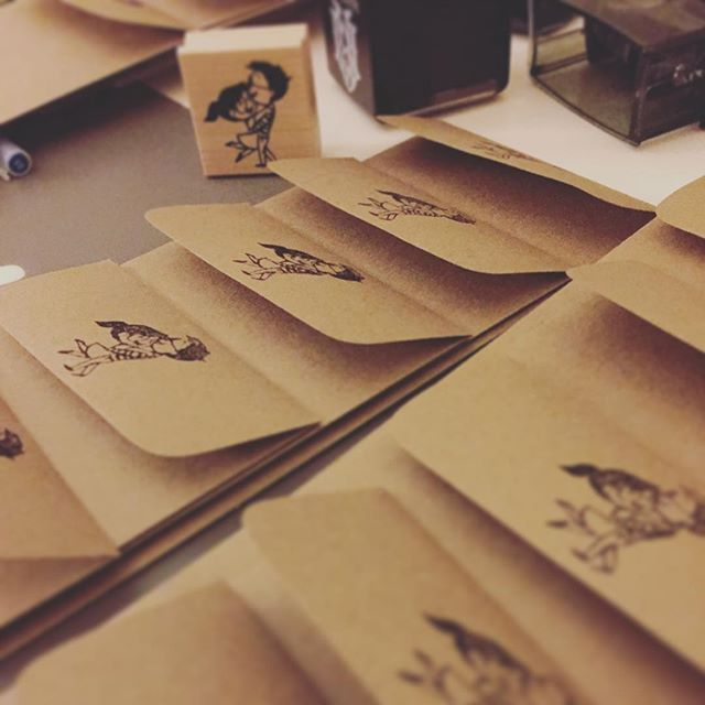 So this is happening now. #envelopes #art