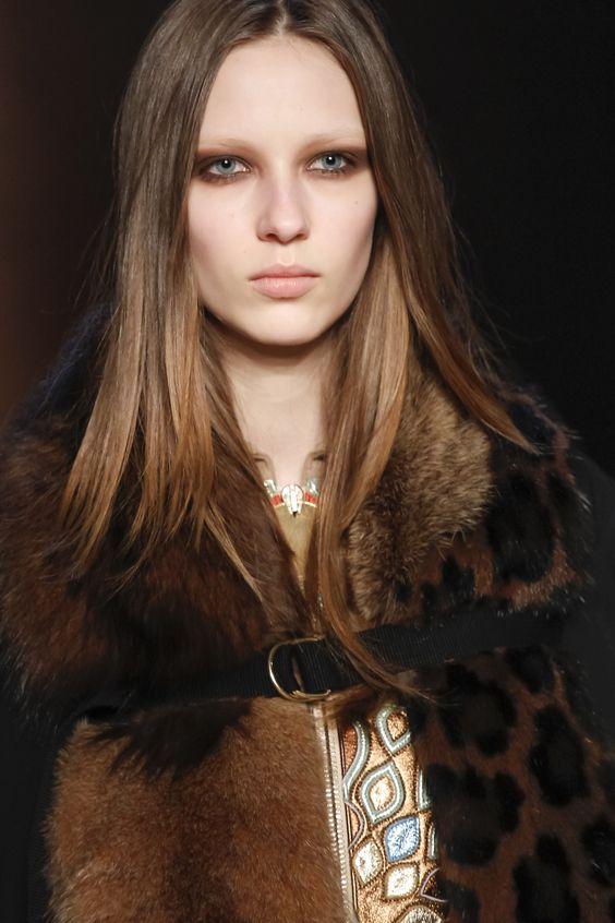 Extreme smokey brown eye makeup at Givenchy