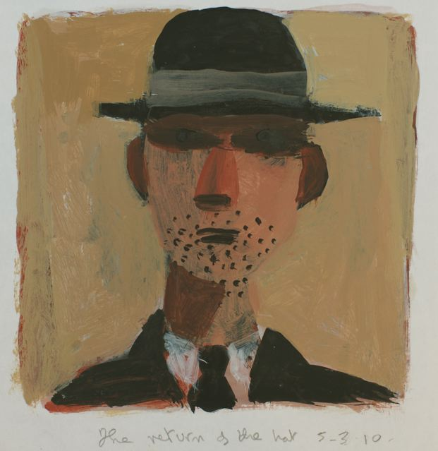 Man with pork pie hat