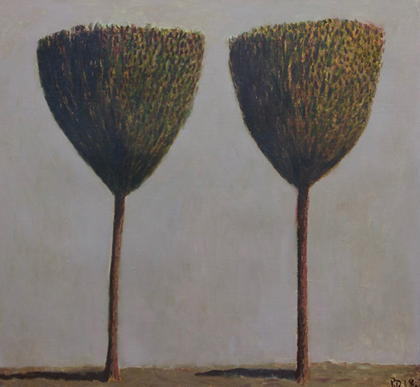 """Two Trees, 47"""" x 44"""", Oil on canvas 2018"""