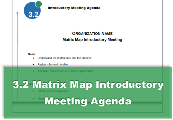 3.2 Matrix Map Introductory Meeting Agenda