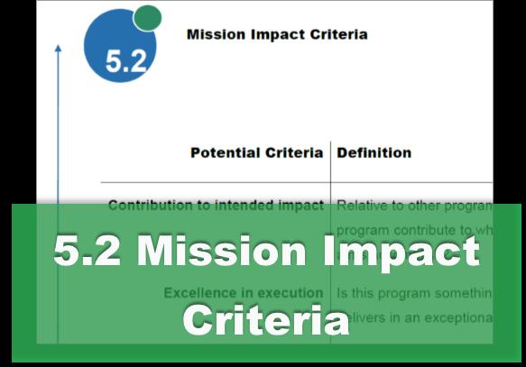 5.2 Mission Impact Criteria