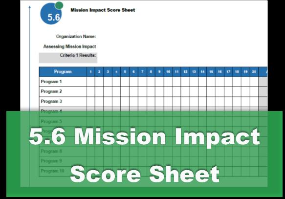 5.6 Mission Impact Score Sheet