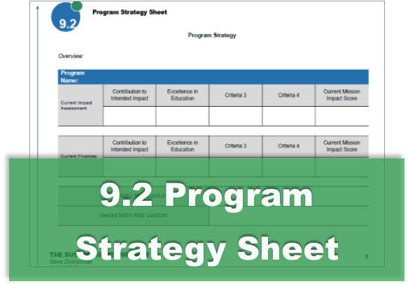 9.2 Program Strategy Sheet