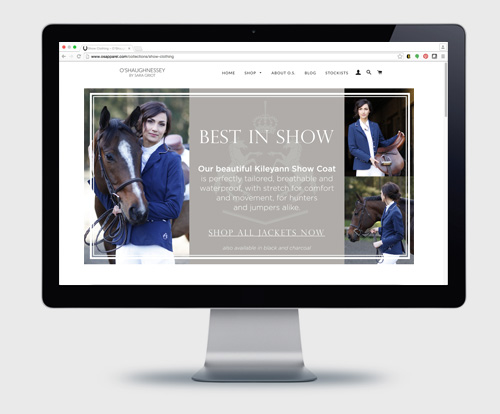 Web Banners - O'Shaughnessey Equestrian Apparel