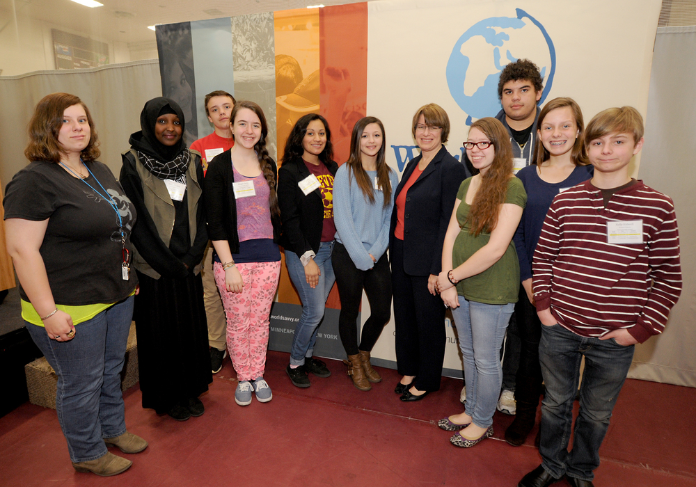ws_ Challenge_Sen. Klobuchar with Roosevelt High School students.JPG