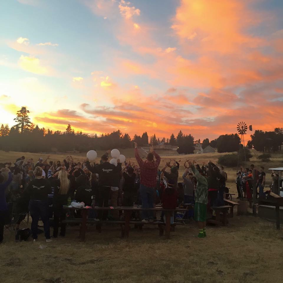 Closing campfire at Seany's Camp Reach For The Sky 2015. Photo credit: Andrew Penna.