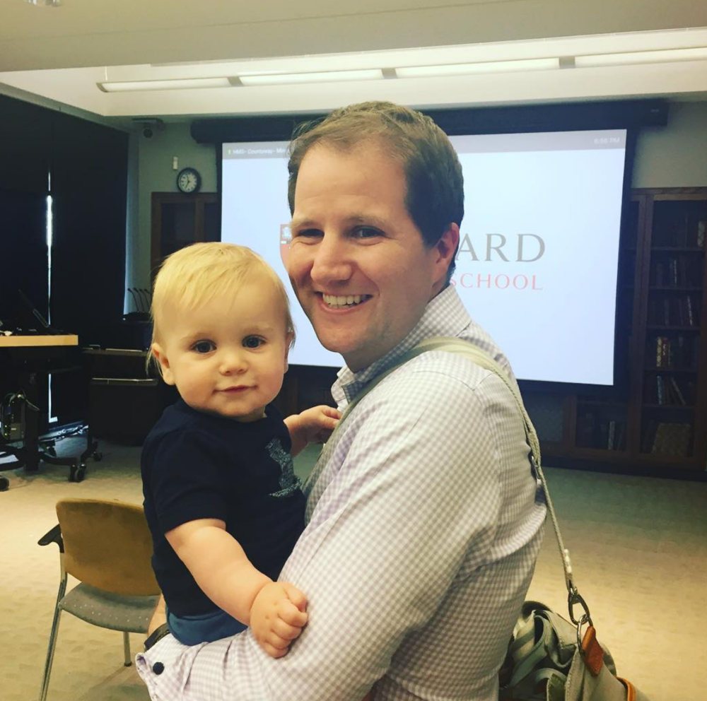 Ryan Starr and his son, Will, at a 2016 Board meeting