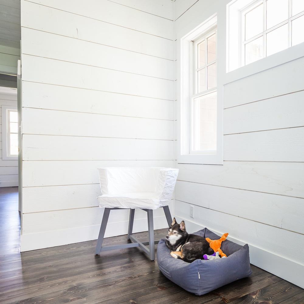 JANGEORGe Interior Design  Gervasoni Gray Armchair in Grey Lacquered American Walnut