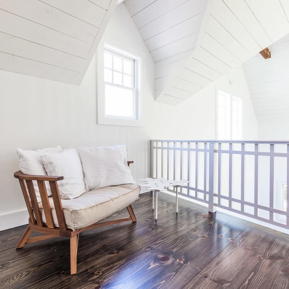 JANGEORGe Interior Design  Gervasoni Gray Armchair in Walnut
