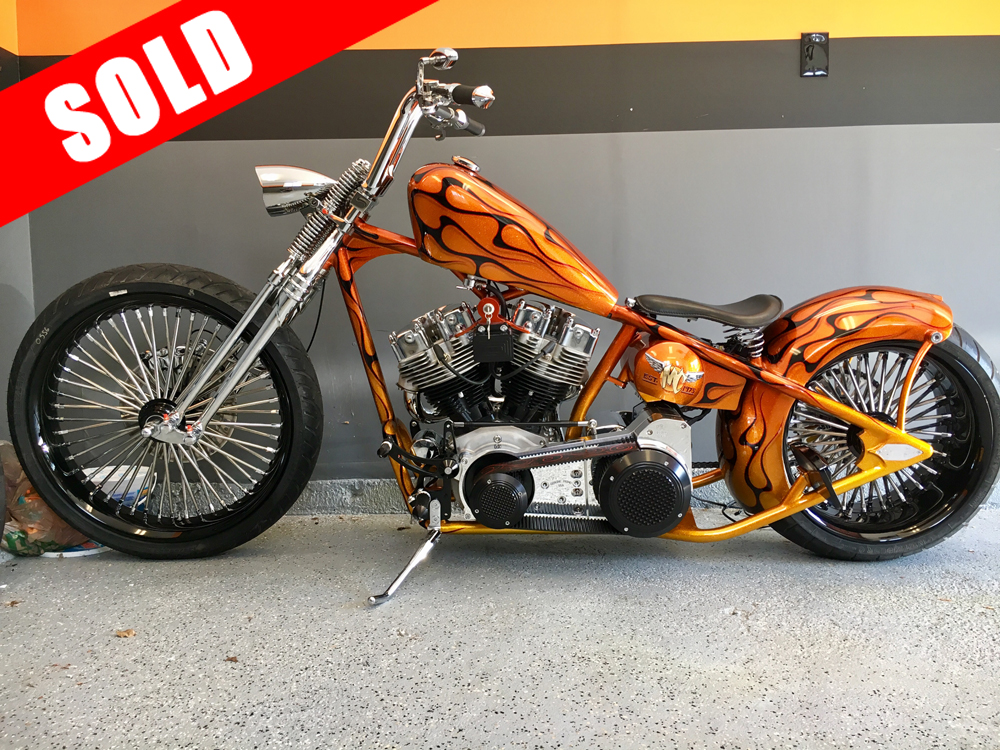 2016 Custom Thunder Cycle Chopper - only 500 miles