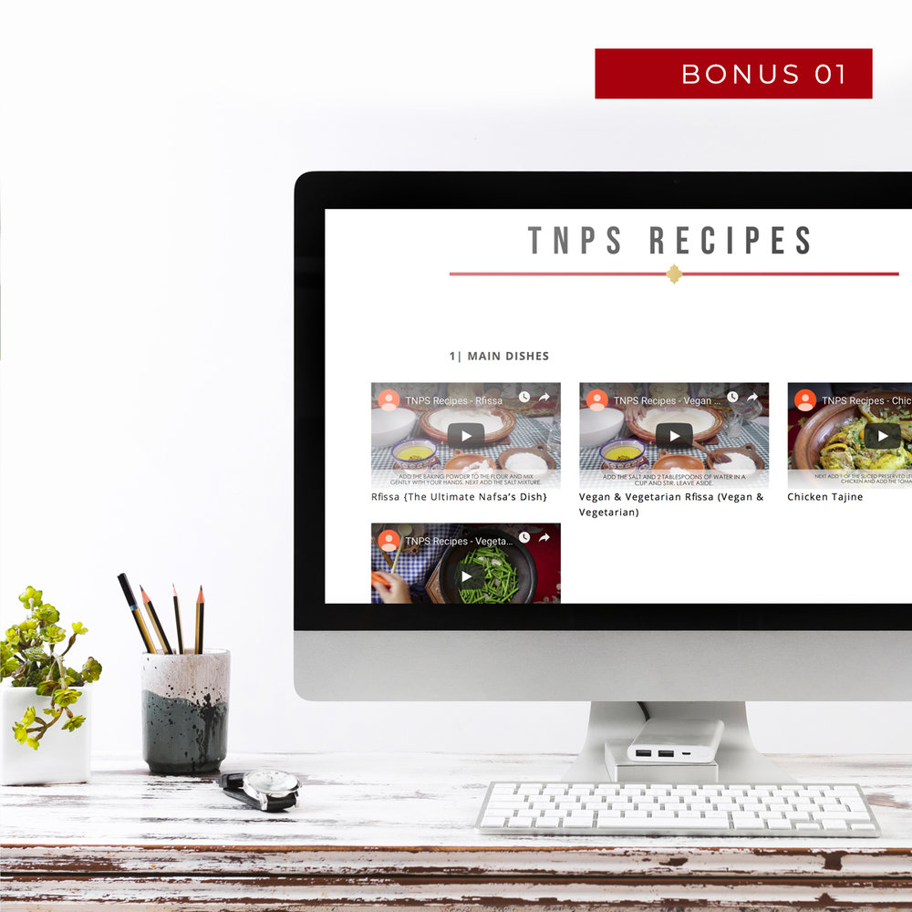 Videos of cookbook - You will have exclusive access to all the videos of every single recipe in the cookbook.(Value $397)