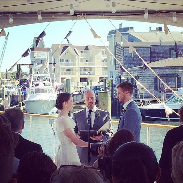 Officiating the #Bralex wedding yesterday. I was beyond honored and thrilled to have played a part in such a perfect day with two of my best friends. It was a truly powerful and fulfilling experience. It's been a strong year for the whole crew. Congrats again @alexlaudeman and @breadleym! Photo cred @andydjalali