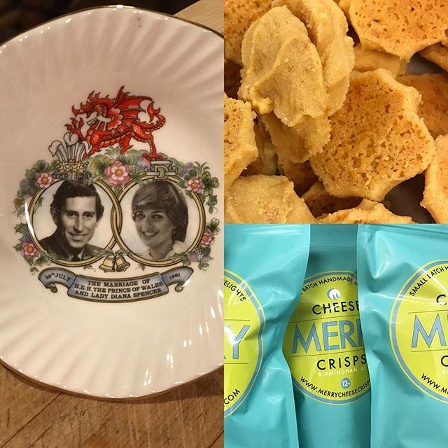 #royalwedding fever got me bringing out memento my mom brought back from England Spring 1981! Fun fact: cheese straws originate from England dating back centuries. Serve #merrycheesecrisps during your viewing party!! #cheesestraws #english #southernentertaining #southernmakers #southernliving