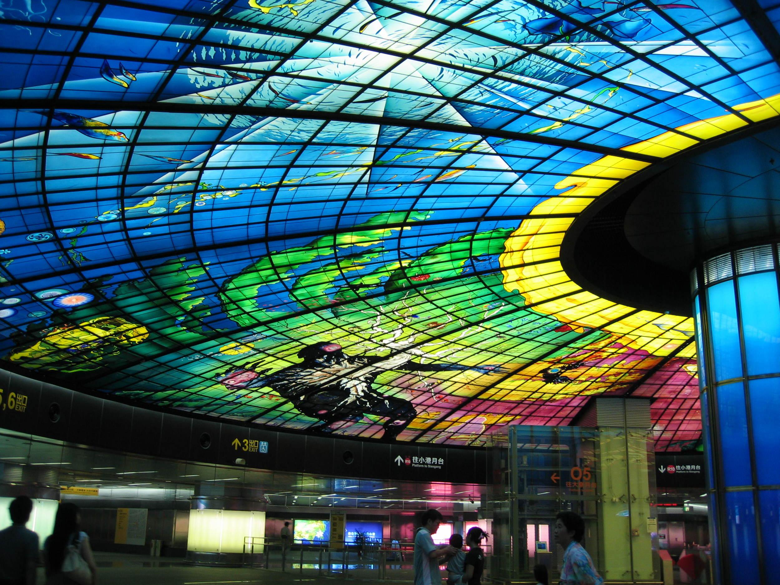Subway ceiling