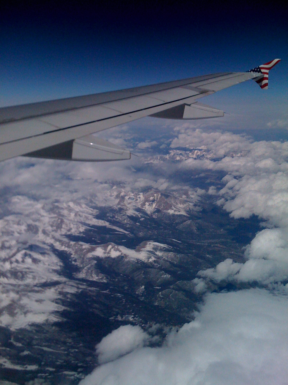 Flying on a jet plane