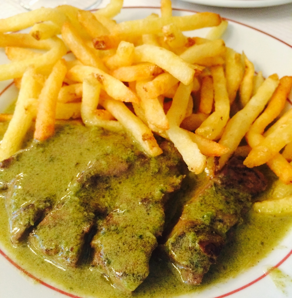 World-famous steak frites!