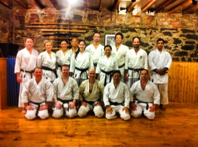Training in New York at Richard Amos' Dojo.  We look forward to welcoming Sensei Amos, 2nd from right in the back row, sometime.