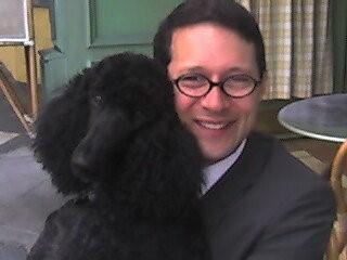 Nick and his doggy, Greta.