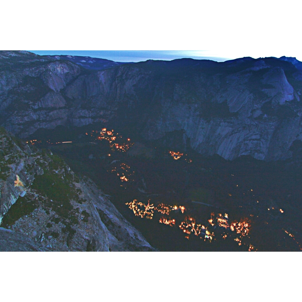 The lights of Yosemite, from high above
