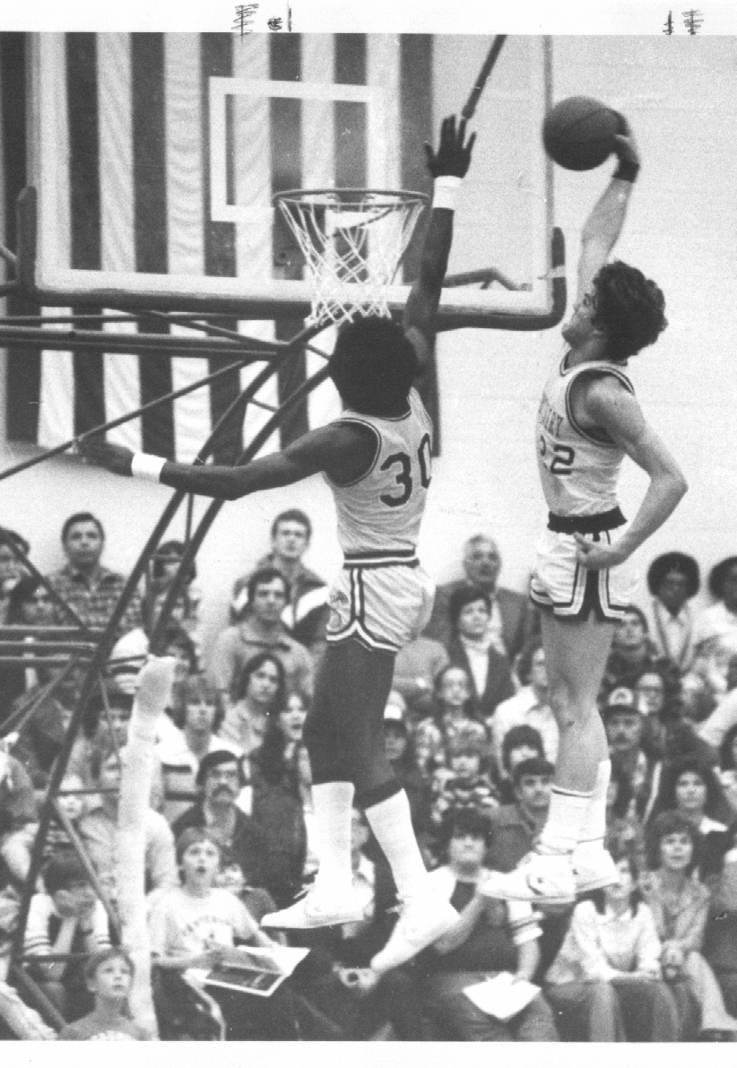 Bill Rieser dunking in his prime