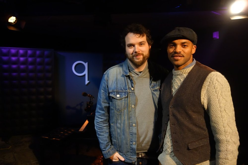 Khari Wendell McClelland with CBC q Host Tom Power