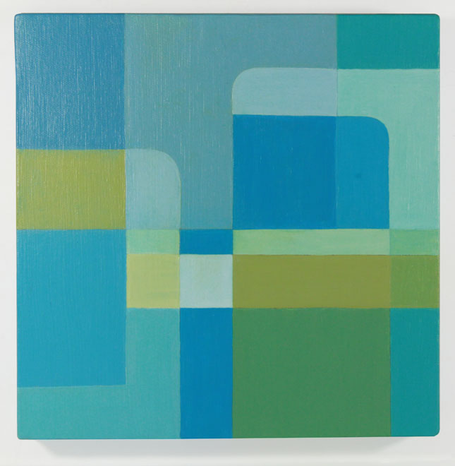 "BLU // Acrylic on Canvas / 10""x10"""